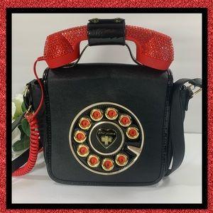 Betsey Johnson Phone Call Me Kitsch Crossbody Bag